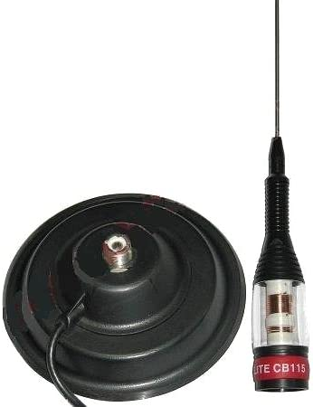 Sunker Elite - Antena para emisora CB (4 dBi, 148 cm de altura, cable de 2 m, con conector PL)