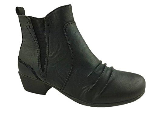 Damen Fashion Chelsea Boots Full Reißverschluss innen schwarz Größe 3–8