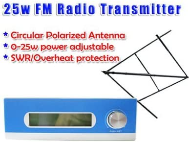 GOWE 25 W ajustable 0-25W transmisor de radio FM Mono/estéreo ...
