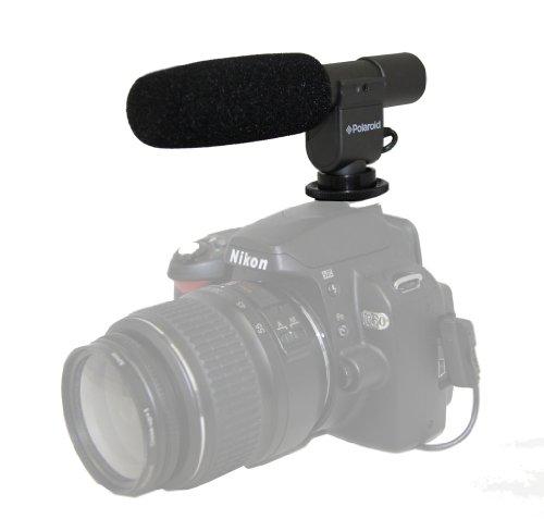 Polaroid Pro Video Condenser Shotgun Microphone For The Canon Digital EOS Rebel T4i (650D), T3i (600D), T1i (500D), T2i (550D), XSI (450D), XS (1000D), XTI (400D), XT (350D), 1D C, 60D, 60Da, 50D, 40D, 30D, 20D, 10D, 5D, 1D X, 1D, 5D Mark 2, 5D Mark 3, 7D Digital SLR Cameras (Microphone T2i Canon)