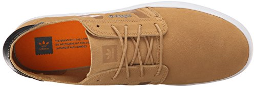 Adidas Originals Heren Seeley Essential Skateboard Schoen Zwart Helder Oranje