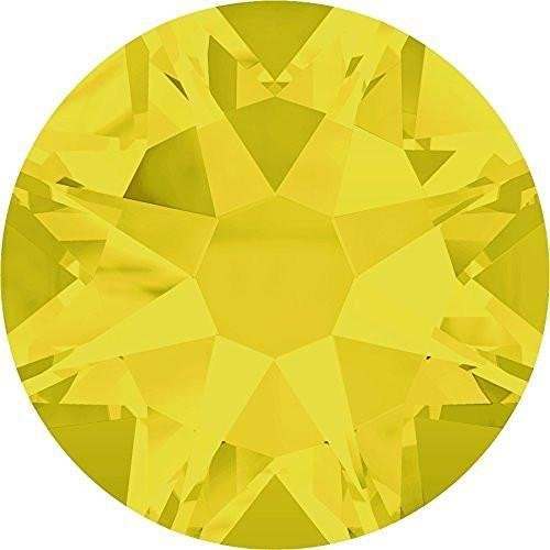 2000, 2058 & 2088 Swarovski Flatback Crystals Non Hotfix Yellow Opal | SS9 (2.6mm) - Pack of 100 | Small & Wholesale Packs | Free (Ss9 Xilion Rose)