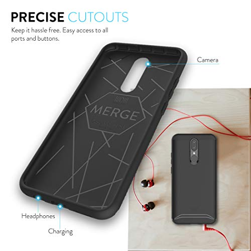 TUDIA Merge Designed for BLU G9 Case [NOT Compatible with G90, G9 Pro] (Matte Black)