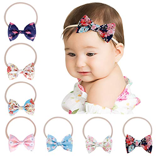 Baby Girl Nylon Headbands Newborn Infant Toddler Hairbands Children Bows Petal Flower knotted Soft Headwrap Hair Accessories (Infant Fashion)