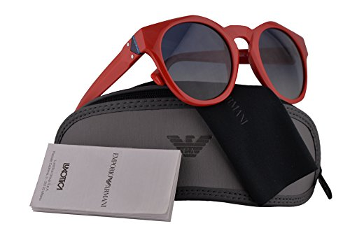 Emporio Armani EA4113 Sunglasses Red w/Grey Gradient Blue Lens 51mm 56624L EA 4113