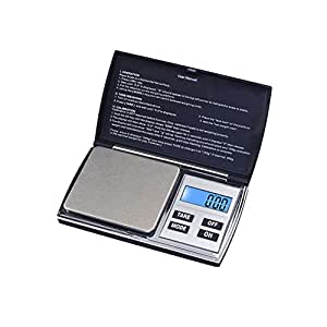 Lovinglove High Precision Electronic Jewelry Scale LCD Display Gold Scale (Black 1000x0.1g)