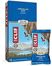 CLIF BAR - Energy Bars - Chocolate Chip - (68 Gram Protein Bars, 12 Count)