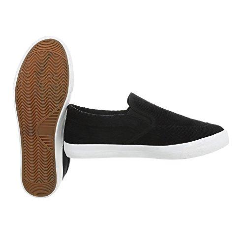 Donna LT B18 Pantofole Design Ital Schwarz qZIBExp