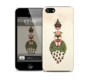 vintage xmas lady iPhone 5 / 5S protective case