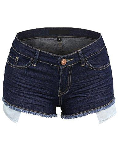 BEKDO Womens Vintage Inspired Distressed Cutoff Leg Shorts With Long Pockets free shipping
