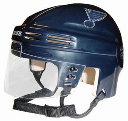 - NHL St. Louis Blues Replica Mini Hockey Helmet
