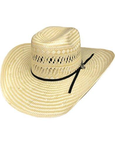 6 3//4 Small Straw Cowboy PBR Hat Bullhide Short Round 50X Natural//TAN