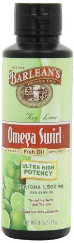 Органические масла Barlean Ультра высокой потенции Key Omega Swirl, известь, 8 унций