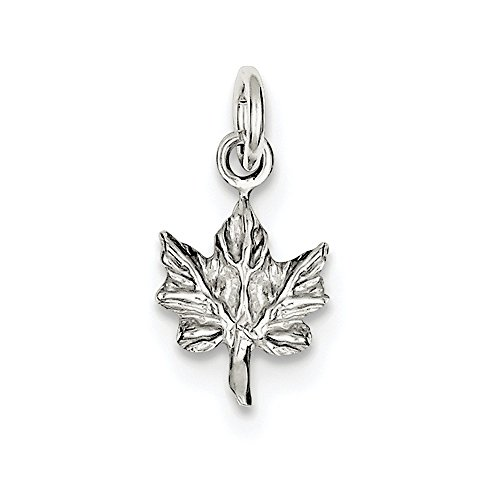 Sterling Silver Maple Leaf Charm - Diamond Maple Leaf Charm Shopping Results