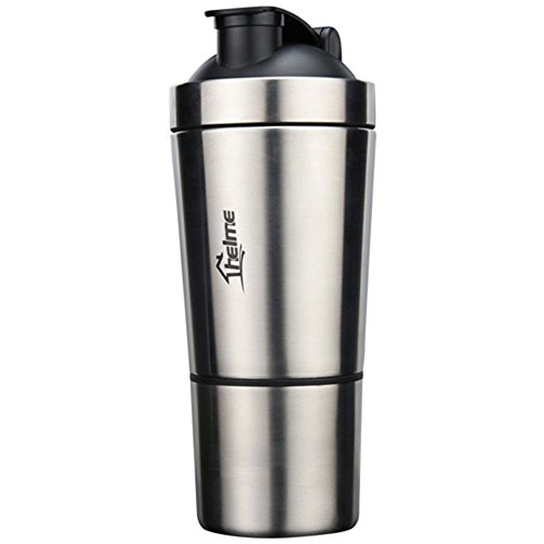 HELME Shaker Bottle 24OZ with Built-In Mixing Lid & Mixer Ball