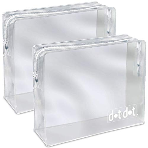 2 TSA Approved Toiletry Bags - 311 Clear Quart Size Bag for Airline Travel -