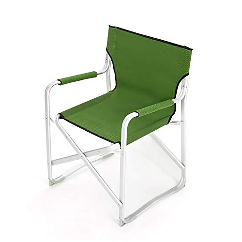 YXNZ Camping Chair, Portable Folding Chair for Hiking, Camping, Hunting, Watching Soccer Games, Fishing, Picnic, BBQ 55×60×85cm (Color : Green)