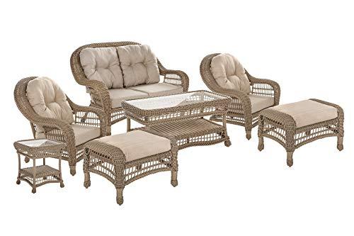 W Unlimited SW1308SET7-OT-02 Saturn Collection 7 Pcs Set Furniture, Light Brown