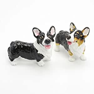Pembroke Welsh Corgi Dog Ceramic Figurine Salt Pepper Shaker 00033 Ceramic Handmade Dog Lover Gift Collectible Home Decor Art and Crafts