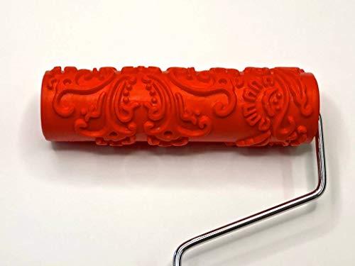 "Artistic Painting Studio Decorative Art Roller - Baroque Pattern - 7"" Texture Roller"