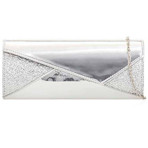 silver femme Pochette London pour Xardi SxUB1wT