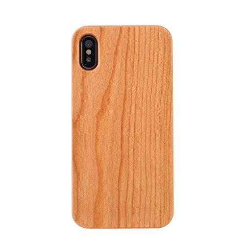 改修公園シティmonogoods(モノグッズ) iPhone X ケース スマホケース さくらんぼ 木製 天然 ウッド 薄型 軽量 耐衝撃 保護 ( さくらんぼ/iPhone X )