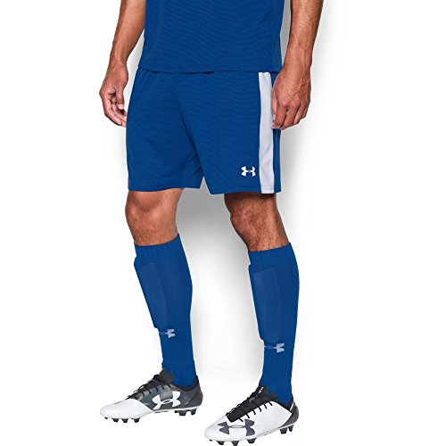 (Under Armour Men's Threadborne Match Shorts, Royal /White, Medium)