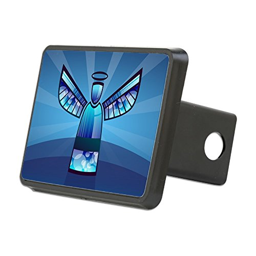 - Rectangular Hitch Cover Contemporary Abstract Stained Glass Angel