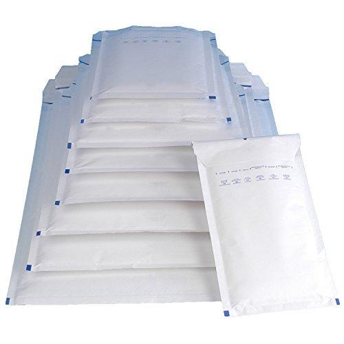 100 Luftpolsterversandtaschen Luftpolstertaschen Gr. A/1 weiß ( 120 x 175 mm ) DIN A6