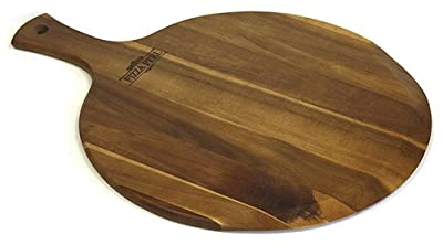 Mountain Woods Gourmet Acacia Hardwood Pizza Peel/Cutting Board/Serving Tray, Large