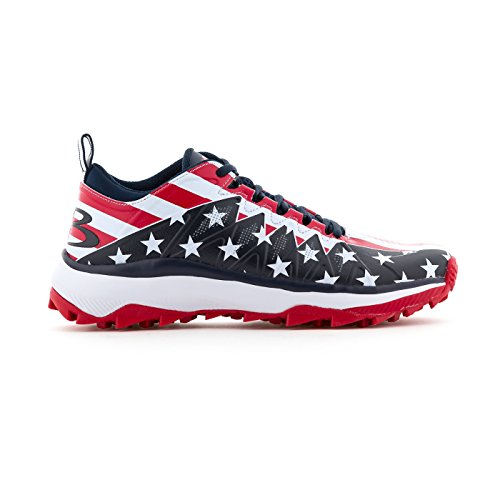 (Boombah Men's Squadron Flag 2.0 Turf Navy/Red/White - Size 12)