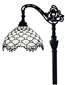 Amora Lighting AM122FL12 Jeweled Reading Floor Lamp 62 In