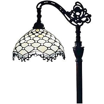 Amora Lighting AM107FL11 Tiffany Style Floor Lamp 62 In Adjustable ...