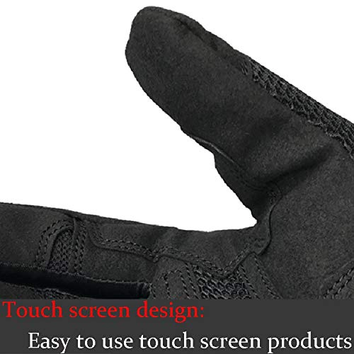AINIYF Full Finger Motorcycle Gloves| Summer Men's Cavalier Breathable Drops Sports Gloves Cycling Locomotive Touch Screen Racing Fall (Color : Black, Size : L) by AINIYF (Image #6)