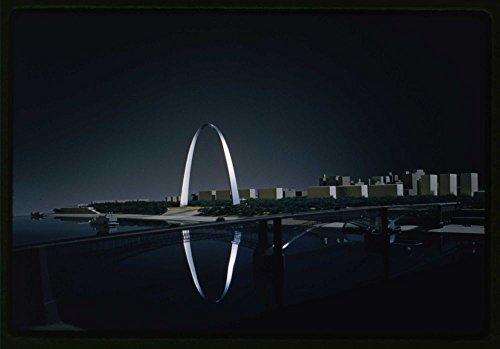 1917 Photo Saint Louis Gateway Arch (originally Jefferson National Expansion Memorial), Saint Louis, Missouri, 1947-65; dedicated, 1968. Model Location: Missouri, St. (Jeffersons Arch)