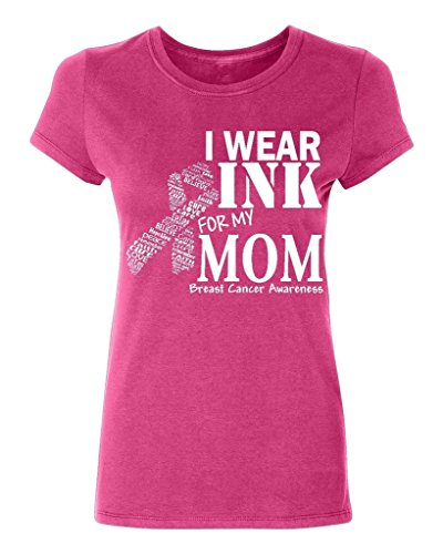 P&B Women's T-shirt I Wear Pink for my Mom Breast Cancer Awareness T-shirt