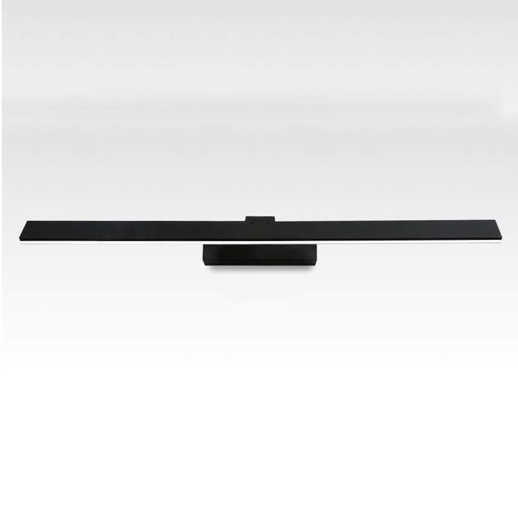 schwarz-b (11.5cm)-10w62cm ZTMN Pride S LED Wasserdicht Anti-Fog Acryl Backfinish Eisen Spiegelleuchte Badezimmerspiegel Schrankbeleuchtung Energieeffizienz A + (Farbe  Schwarz-B (11,5 cm) -10 W 62 cm)