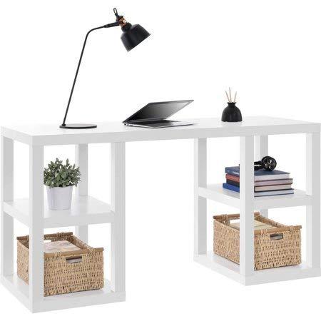 (Mainstays Parsons Deluxe Desk,White)