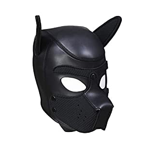 HOT TIME Neoprene Puppy Hood Custom Animal Head Mask Novelty Costume Dog Head Masks 6
