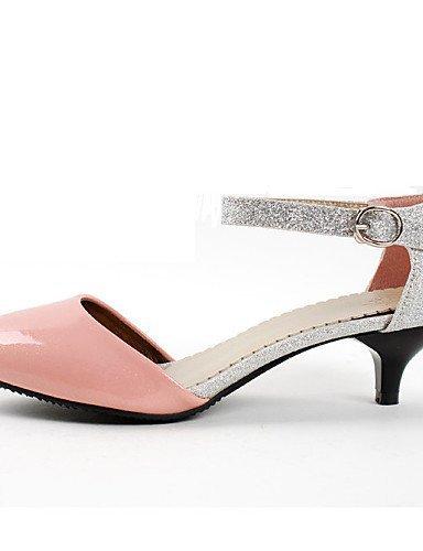 Chaussures Femmes Shangyi Talons En Cuir Verni / Paillettes Talon Chaton Talons Bureau Et Carrière / Robe / Occasionnels Noir / Rose Noir