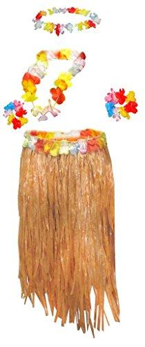 Sanctuarie Designs Womens Hula/Tan Grass Skirt & Leis/Dancer Plus Size Supersize Halloween Costume -