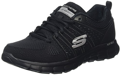 Skechers (SKEES) - Synergy-Look Book, Scarpa Tecnica da donna, nero (bbk), 38