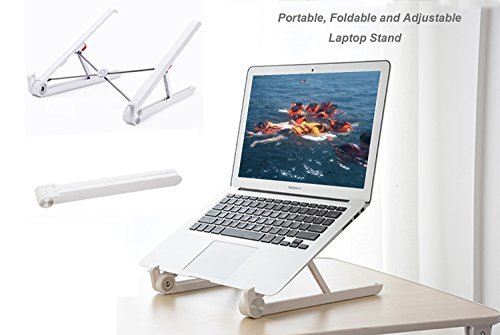 Hodonas Portable Laptop Stand Foldable and Adjustable Notebook Holder, Eye-Level Ergonomic Steady Light Weight Ventilated Minimalist Travel Desktop Stand for Macbook PC iPad by Hodonas (Image #1)