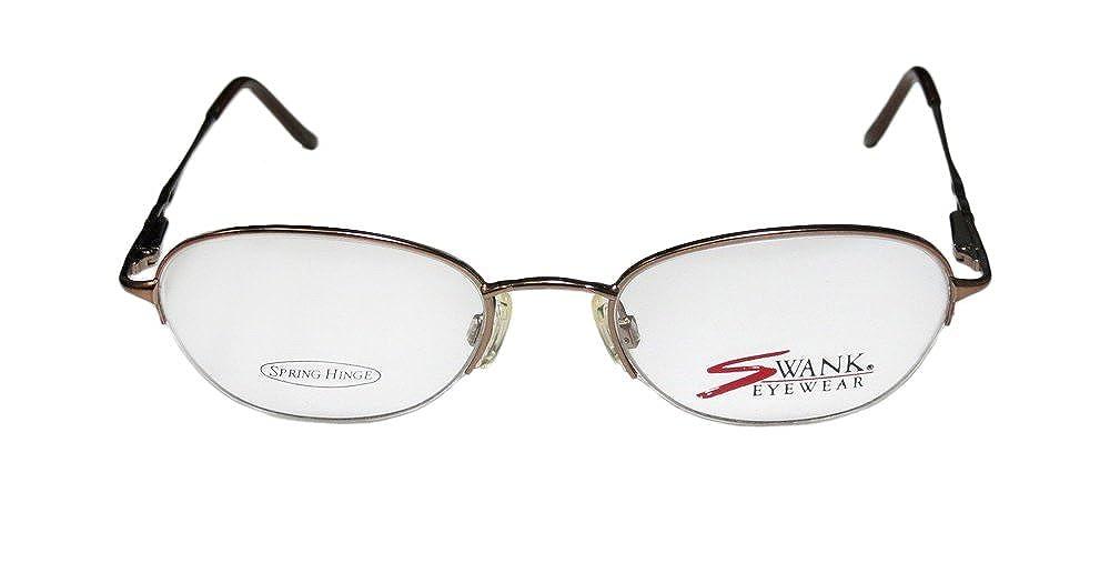 e660f01cb062 Amazon.com  Swank Lilac For Ladies Women Designer Half-rim Strass Spring  Hinges Flexible Half-rimless Hip Eyeglasses Eye Glasses (50-19-135