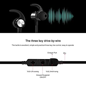 SOWAK Bluetooth Headphones Wireless Headphones with Bluetooth 4.1 Noise Canceling Sweatproof Earphones with Magnetic Earbuds Snug Fit for Sports with Mic and 6 Hours Playtime(Black)