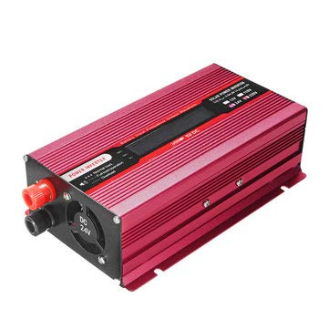 1500W DC 12V/24V to AC 220V/110V Solar Power Inverter Modified Sine Wave LCD Voltage Display - Electrical Equipment & Supplies Power Inverter - (12V-110V)