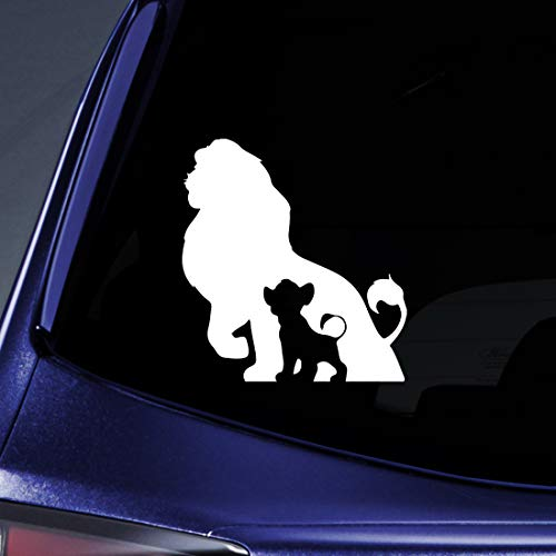 Bargain Max Decals Lion Family Sticker Decal Notebook Car Laptop 5.5