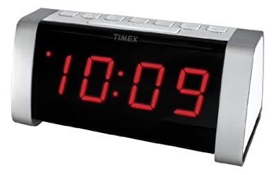 Timex AM/FM Dual Alarm Clock Radio with Jumbo Display and Line-In Jack from TIBC9