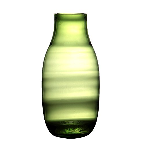 "Hand Blown Art Glass Vases Halo Vintage Flower Bottle Home Decoration ( Green, Birthday Gift, 11.02"" tall )"