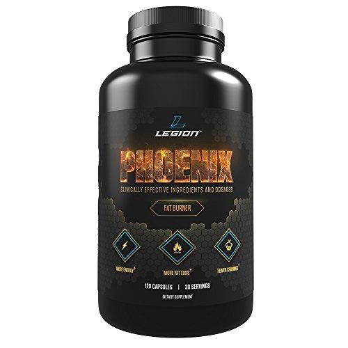 Vientre de Legión Fénix - cafeína mejor peso pérdida píldoras para hombres y mujeres, mejores quemadores de grasa sin efectos secundarios, potente quemador de grasa, píldoras de pérdida de peso que funciona rápido - 30 porciones, 120 cápsulas